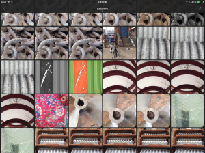Screen shot of grid view of images in a collection sync'd to Lightroom mobile